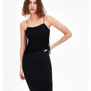 Zara Black Tube Dress